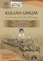 Kuliah Umum  Conservation of Cultural Heritage